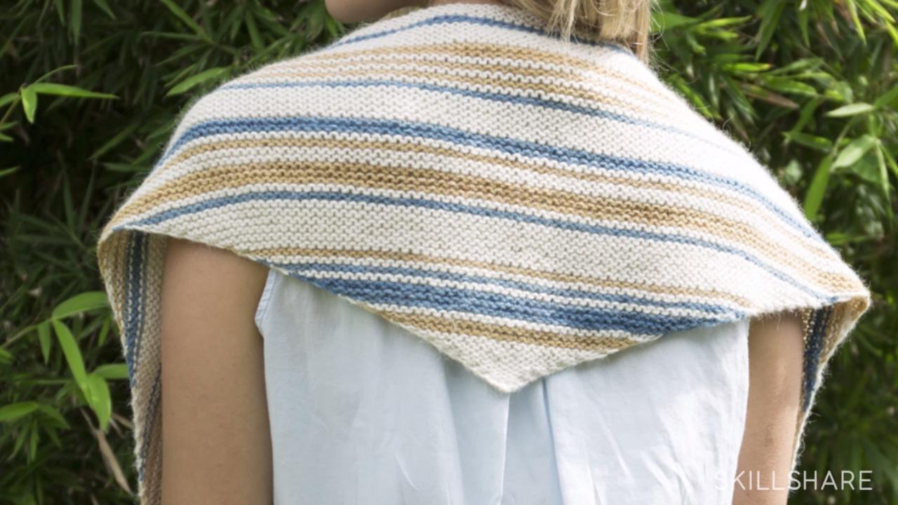 Knitting II: Learn Stitch Widths with a Triangle Scarf