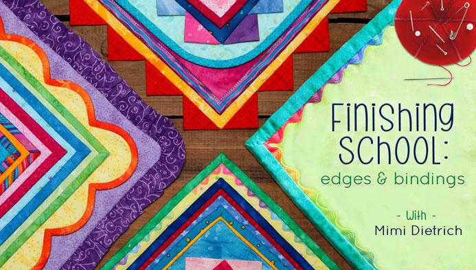 Finishing School: Edges & Bindings