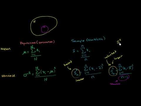Variance and standard deviation