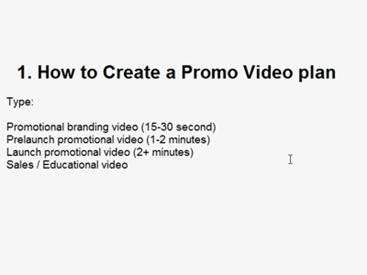 Create Professional Promo Videos - A Brief Introduction