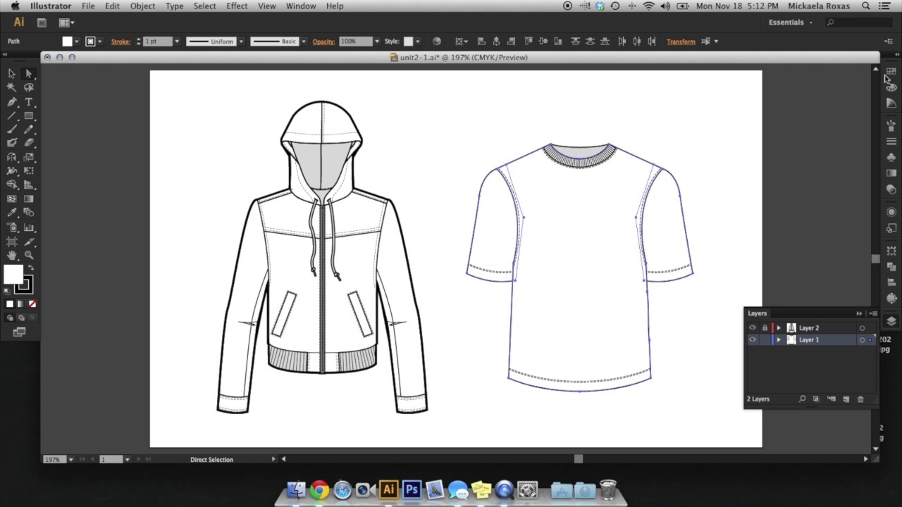 Adobe Illustrator for Fashion (CAD II): Intermediate Technical Design