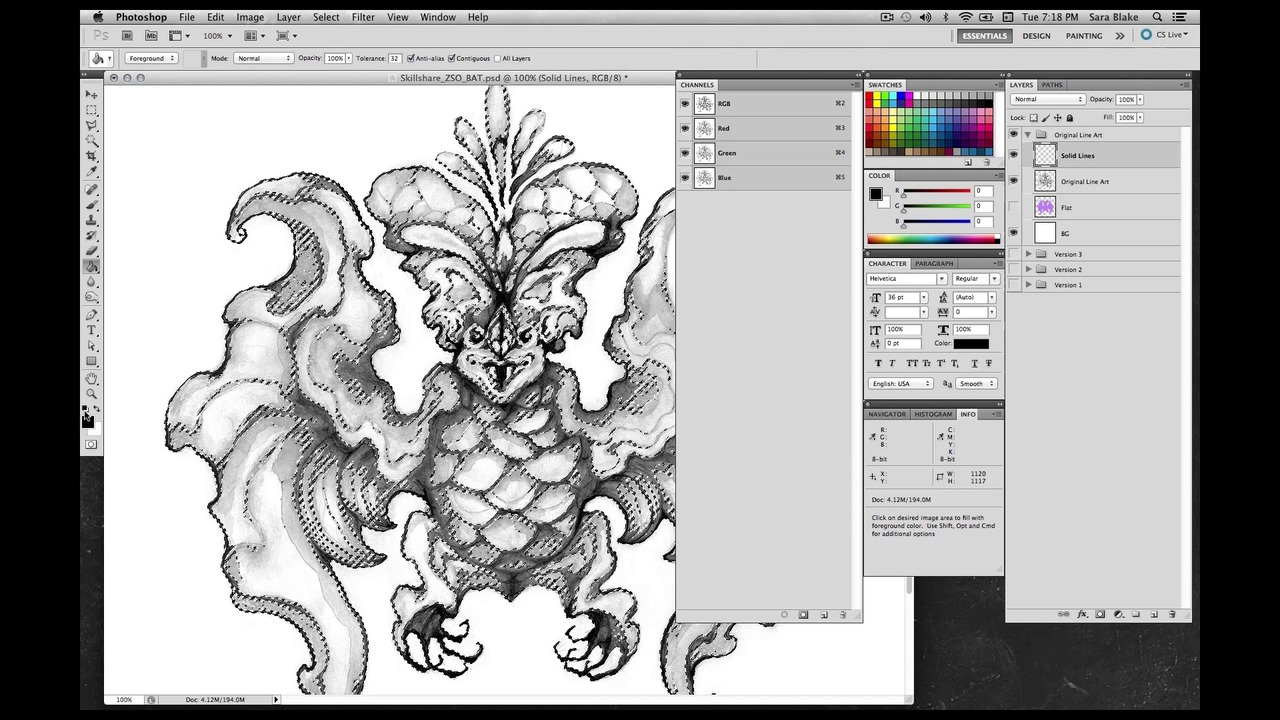 Creating Full Color Digital Illustrations From Your Hand-Made Drawings