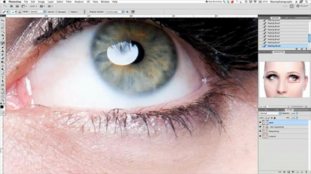 Basic Beauty Retouching On Eyes In Photoshop