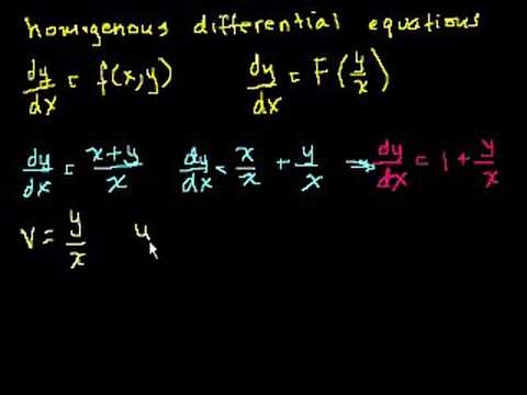 Homogeneous equations