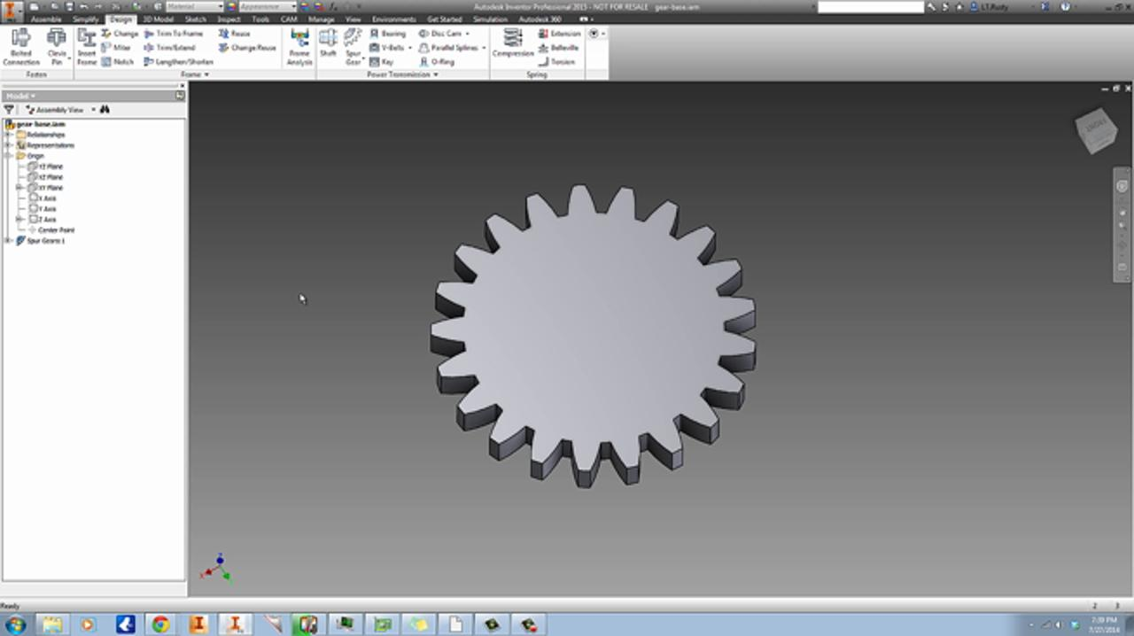 Plastic Gear & Mold Design using Autodesk Inventor