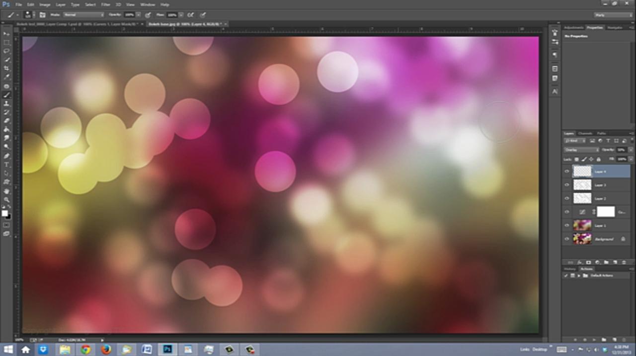 Photoshop: BOKEH! Make a Bokeh Background & Text Effect
