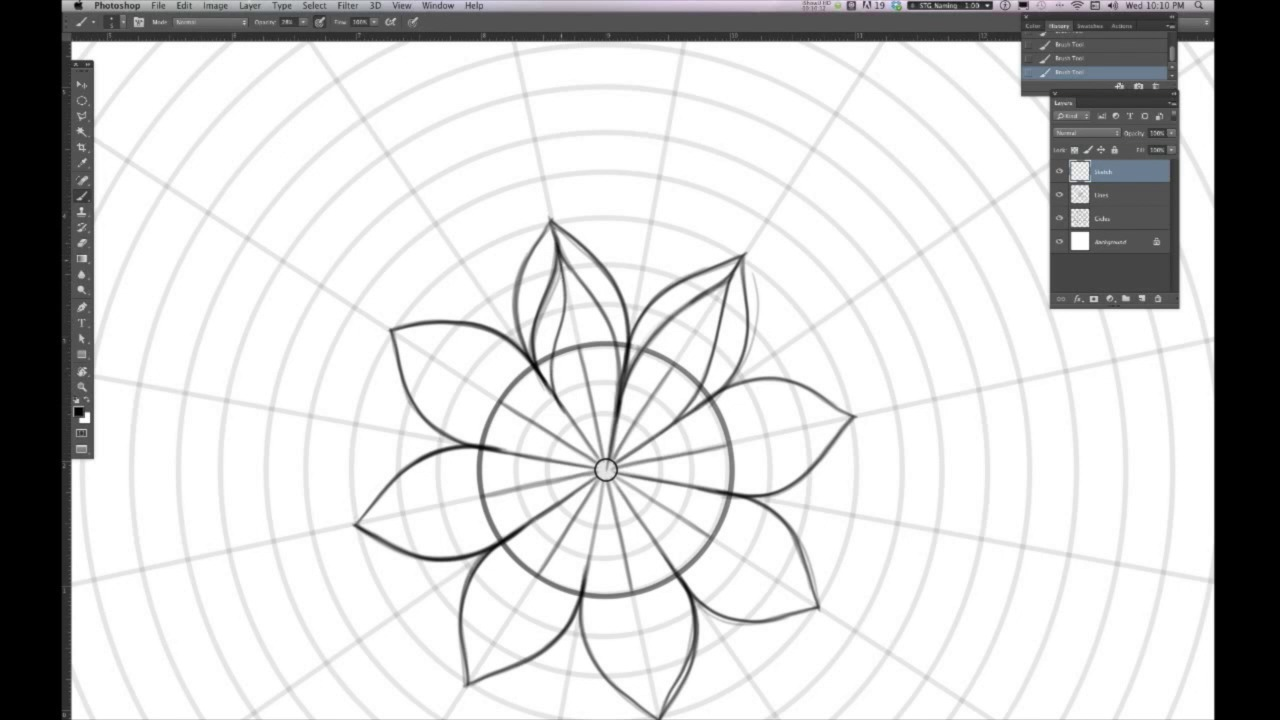 Illustrate a Custom Mandala Design in Adobe Photoshop with Your Graphics Tablet
