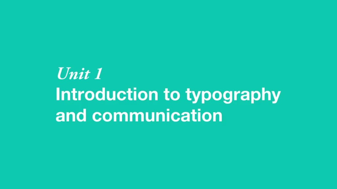 The Art of Typography: Communicate Effectively Through the Power of Type