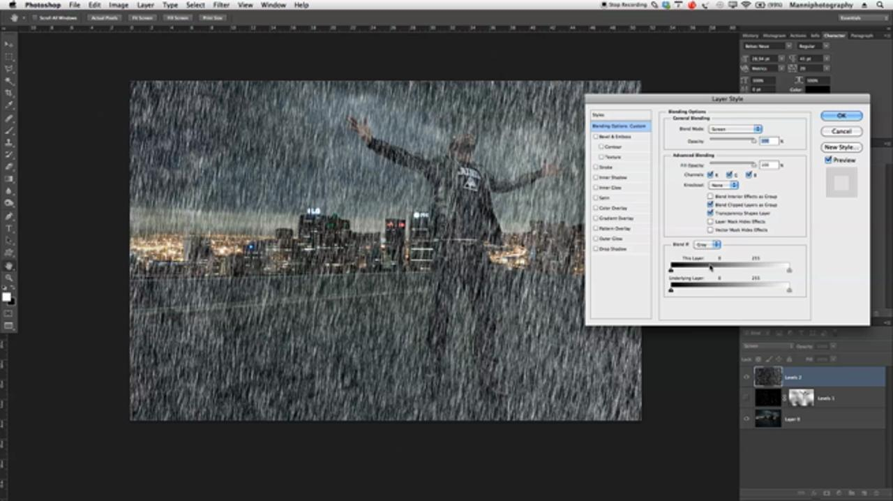 Creating a Rain Effect in Photoshop
