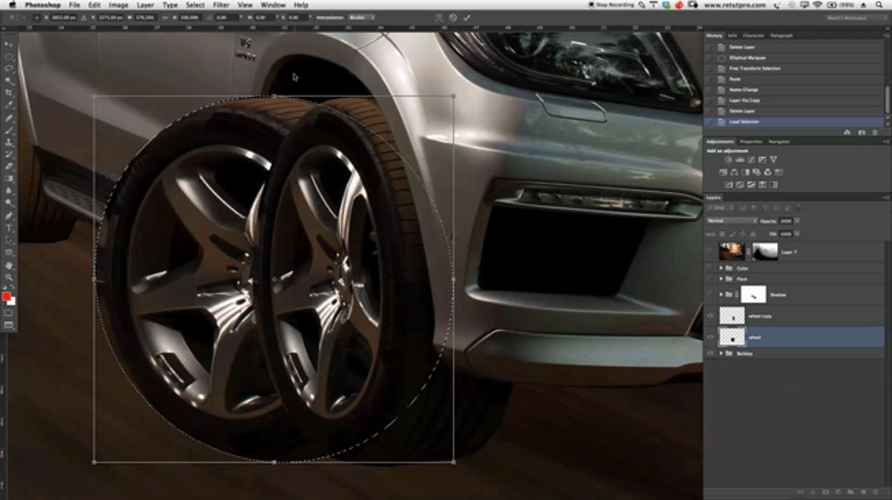 Blurring Car Wheels in Photoshop