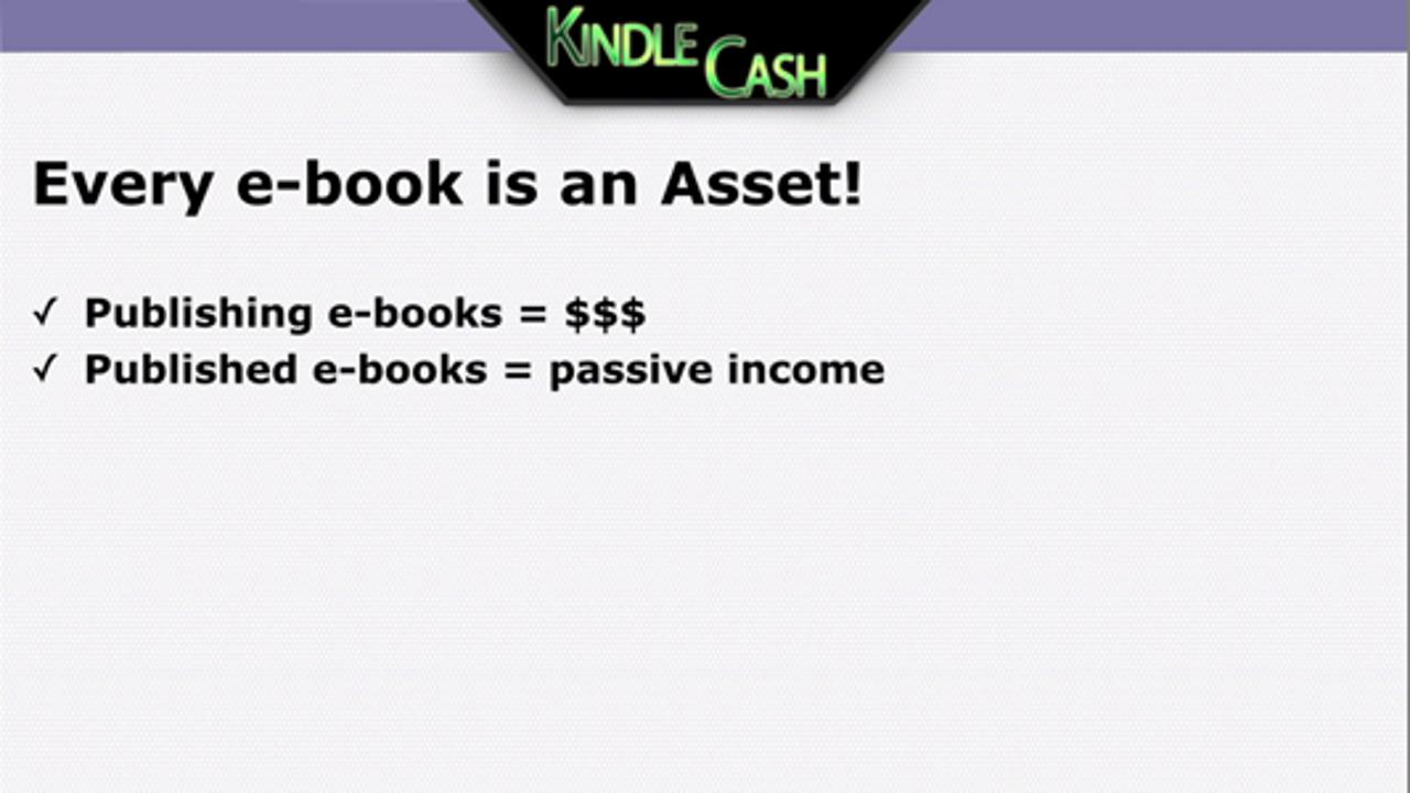 Kindle Cash - How To Make Money With Ebooks Even While You Sleep?