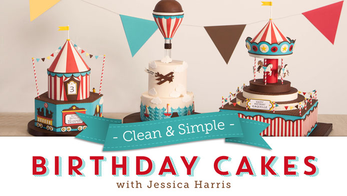 Clean & Simple Birthday Cakes