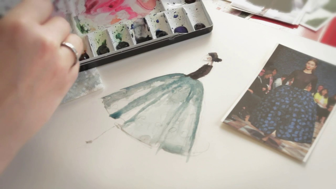 Paper Fashion: Illustrate Your Favorite Runway Looks with Watercolors