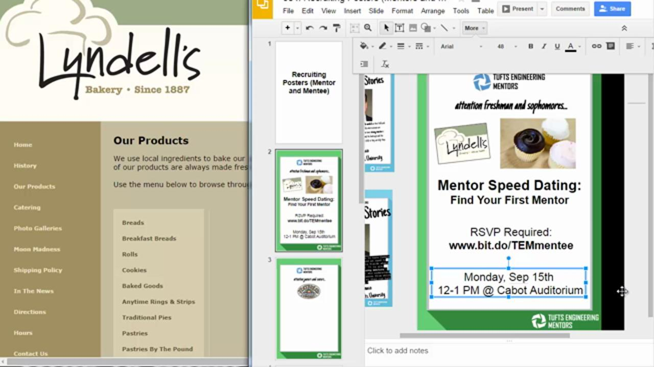 Use Google Slides as a Poor Man's Photoshop to Build Flat Design Event Posters