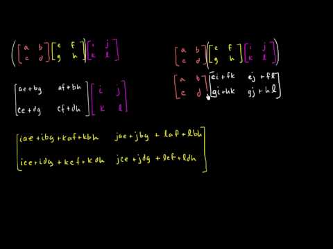 Properties of matrix multiplication
